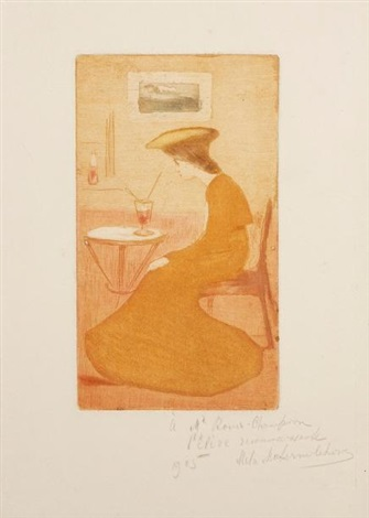 femme au verre dabsinthe by maria mela muter