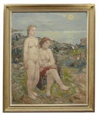 nakna kvinnor vid kust by birger ljungquist