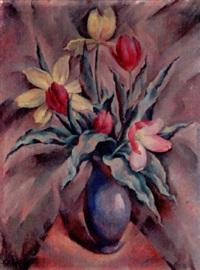 stilleben mit tulpen und vase by eugen ammann