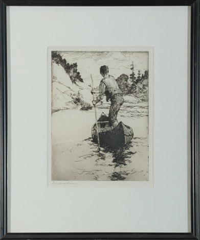 canoeman by frank weston benson