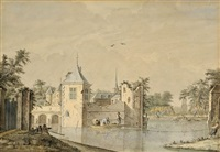 view of a castle by theodor (dirk) verryck