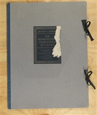 portfolio of paintings (6 works) by frederic remington