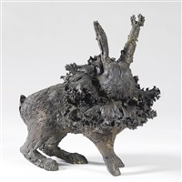 small rabbit with cabbage by claude lalanne
