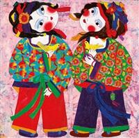 girls with birds by wu hao