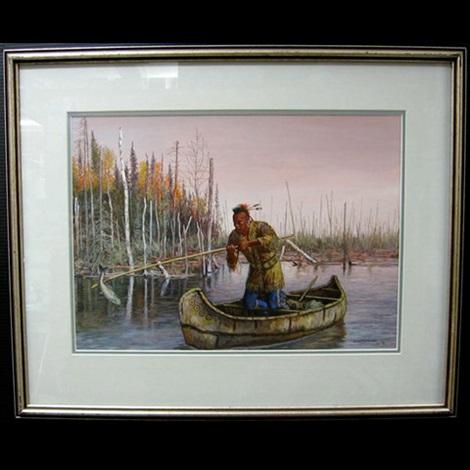 ottawa fisherman travelling odjibway family pair by hubert wackermann