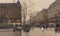 boulevard i paris by eugène galien-laloue