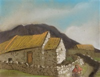 shawlie and cottages, west of ireland by harry epworth allen