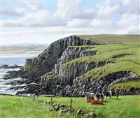 clifftop cows by eugene conway