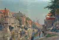 inner harbour of gorkum by hendrik jan wolter