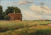 danish summer idyll by carl frederik peder aagaard