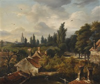 village view by anthony jacobus offermans