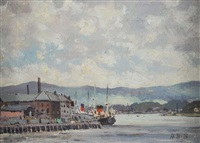 derry from the bridge by hugh boycott-brown
