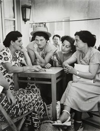israël. tel-aviv, mai - armon café, sur hayarkan street by robert capa