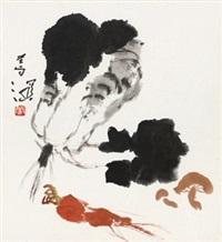 蔬果 镜框 设色纸本 by yang shanshen
