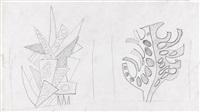 les arbres (studien für eine wandmalerei) by fernand léger