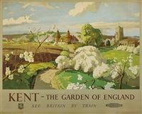 kent - the garden of eden (poster) by frank sherwin
