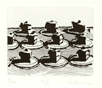 pies (from delights) by wayne thiebaud