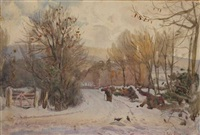 a winter's day near the dublin hills by joseph poole addey