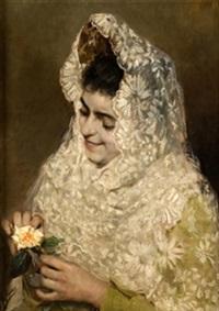dama con mantilla by agustín almar