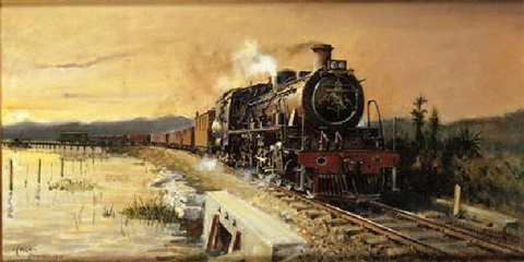 evening freight to knysna by terence cuneo