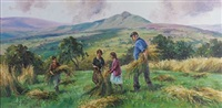 stooking corn in the glens by donal mcnaughton