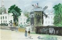 moulin de la galette à montmartre by maurice utrillo