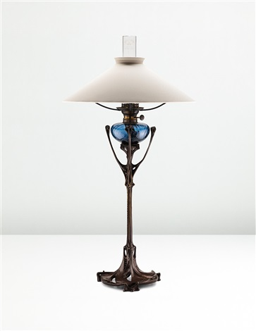 Rare table lamp from the maison coilliot lille by hector guimard on rare table lamp from the maison coilliot lille by hector guimard aloadofball Image collections