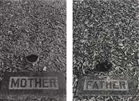 les tombes - mother/father (diptych) by sophie calle
