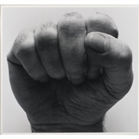 self portrait (clenched fist dark) by john coplans