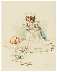 the returning hero (+ a red cross nurse; 2 works from gallant little patriots) by maud humphrey