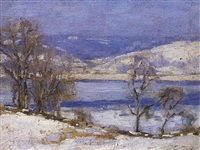 rivière en hiver by henry bill selden