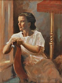seated lady by ken hamilton