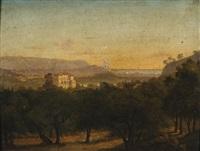 villa palladienne dans un paysage by alexandre raulin