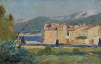 view of the village, france by william brymner