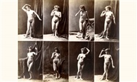 album de poses (21 works) by louis jean baptiste igout