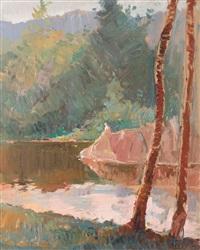 saint ana lake by honorius cretulescu