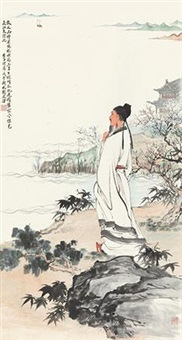 李白诗意图 by liu lingcang