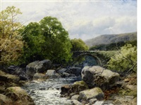 old bridge on the dulas, south wales by john brandon smith