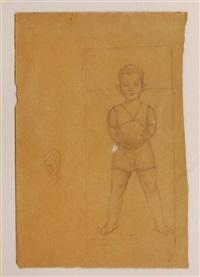 apunte para el retrato del niño juan luis prieto by angel zárraga