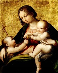 madonna and child with the infant saint john the      baptist by andrea sabbatini