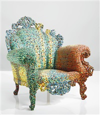early poltrona di proust armchair (painted by francesco migliaccio) by alessandro mendini