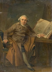 portrait d'homme dans un manteau croisé by marguerite gérard