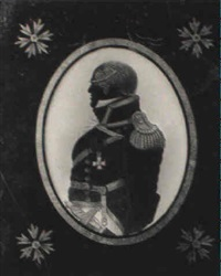 portrait in profile (william bligh in naval uniform?) by charles buncombe