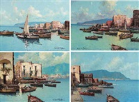 an italian fishing port by fortunato fontana