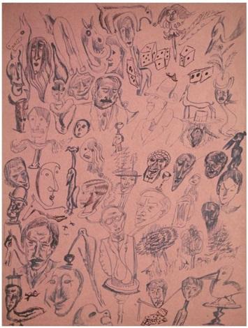 compositions en dessin automatique rectoverso by tristan tzara