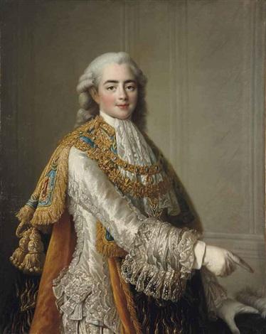 portrait de louis stanislas xavier comte de provence by françois hubert drouais
