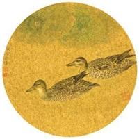 荷塘双戏图 by jiang hongwei