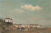 holiday beach, suffolk by roy petley