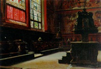 praying in the pews by domenico pesenti