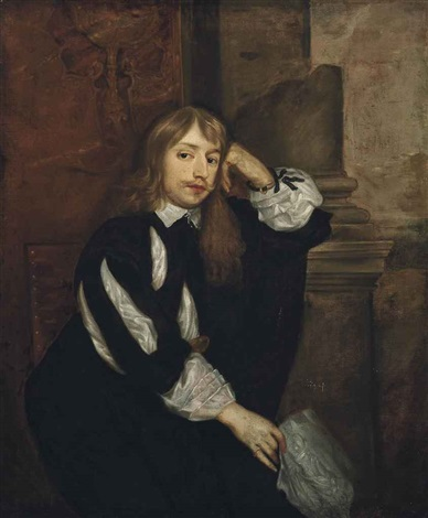 portrait of thomas killigrew 1612 1683 three quarter length seated holding a piece of paper in his right hand by sir anthony van dyck